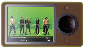 Microsoft Zune Music Player in Brown