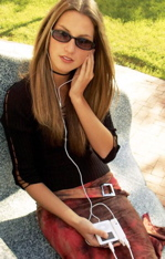 Woman with iPod