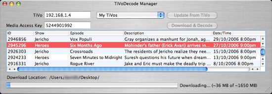TiVo Decode Manager