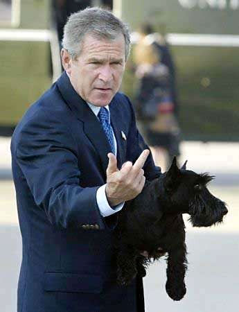 Bush Flips Bloggers The Bird