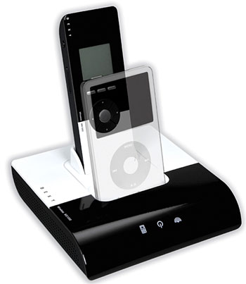 Sexy iPod remote dock