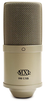 MXL Introduces 990 USB Stereo Condenser Microphone