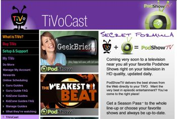 Tivo Gets PodShow Video Podcasts