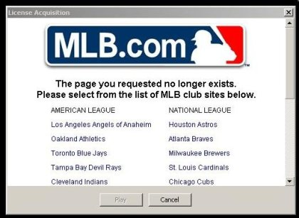 Major League Baseball Strikes Out With DRM'd Videos
