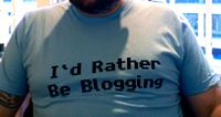 I'd rather be blogging