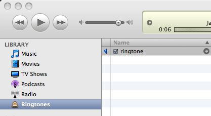 Check your ringtone in iTunes and then sync it to your iPhone