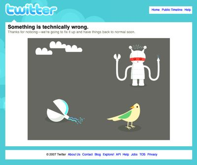 Twitter - something is technically wrong