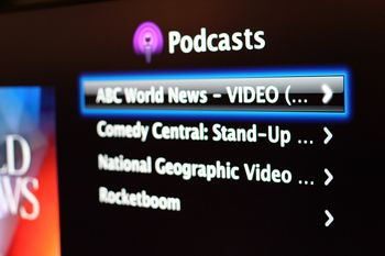 Video podcasts on Apple TV