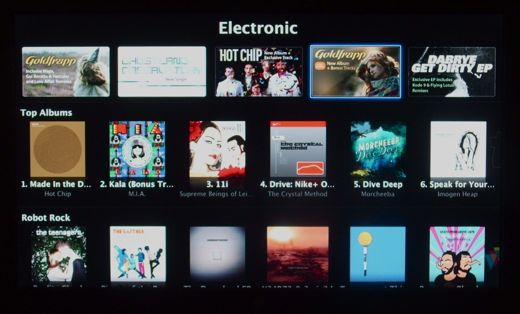 Browsing music on Apple TV
