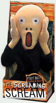 The Scream plush doll
