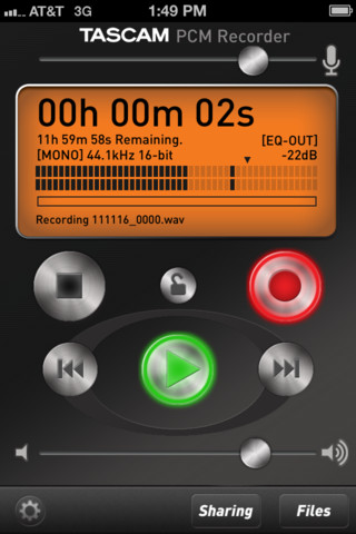Free Tascam Audio Recorder for iOS